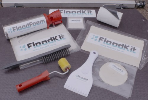 image of products supplied as a flood barrier in a floodkit for flood prevention