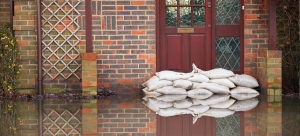 image of sandbags used as flood protection