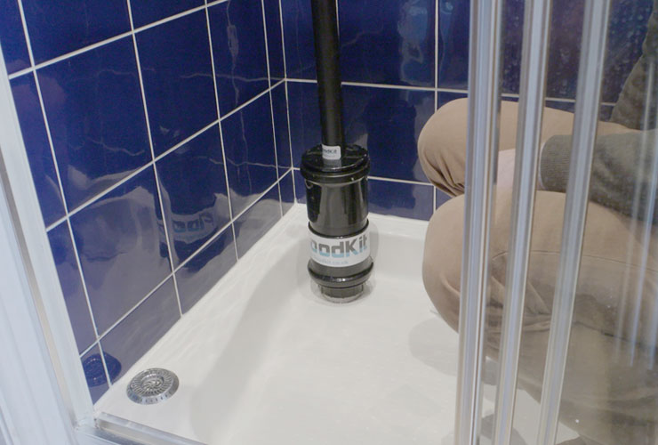 Image Of Floodkit Shower Tube Used For Flood Prevention