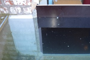 image of FloodKit door panel with FloodFoam for flood protection
